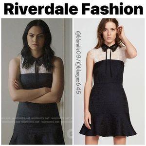 "Sandro ""Flavia"" brocade lace mini dress 1/S"